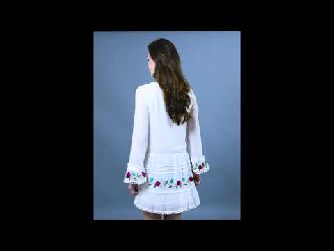 Victoria Tunic with Hand Embroidery (Pearl, Mirror & Tassel Work)