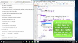 WEB 110 - HTML & CSS - Objective 2 of 9 HTML structure and CSS formatting