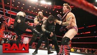 Braun Strowman Interrupts The United States Championship 2on1 Handicap Match Raw Jan 9 2017