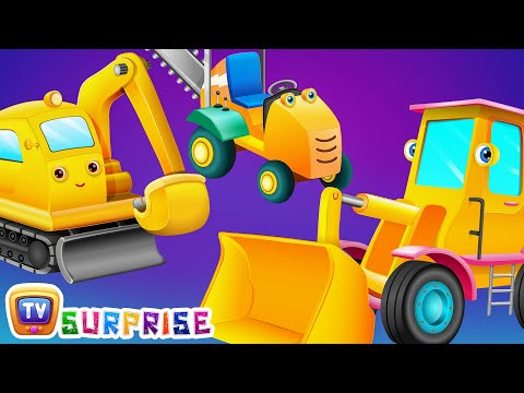 Surprise Eggs Toys Construction Vehicles For Kids Bull