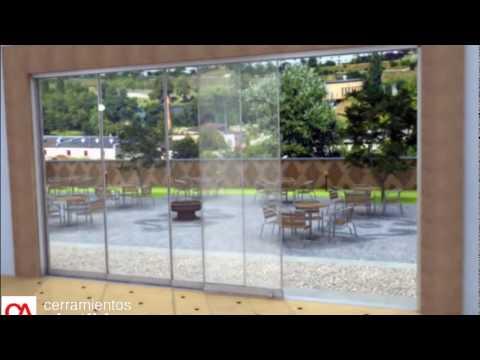 Cortina de Cristal - Corredera Sin Perfiles