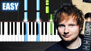 Ed Sheeran - Photograph - EASY Piano Tutorial by PlutaX - Synthesia