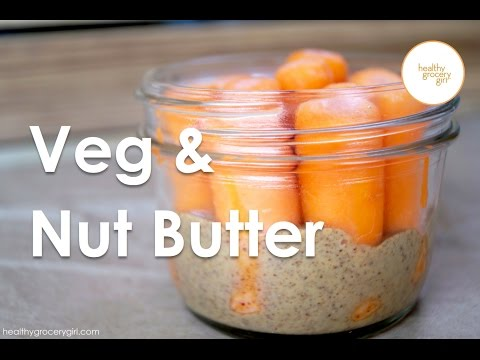 Video Fall Recipes: Carrots & Almond Butter | Quick Healthy Snack Idea | Healthy Grocery Girl
