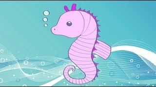 Cómo dibujar un caballito de mar. Dibujos infantiles