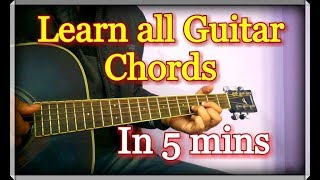 Learn All Guitar Chords in 5 minutes   Hindi Explanation