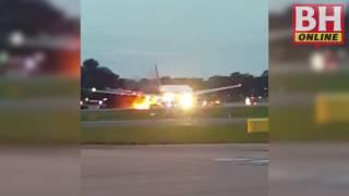 Pesawat SIA Terbakar Ketika Mendarat Cemas