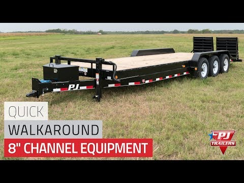 2021 PJ Trailers 8 in. Channel Equipment (C8) 38 ft. in Acampo, California - Video 1