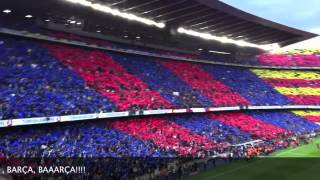 preview picture of video 'Mosaic and Himne 21.April 2012 Barça-Madrid Camp Nou'