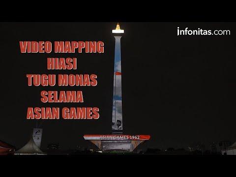 Video Mapping Hiasi Tugu Monas Selama Asian Games