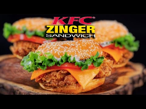 How To Make JAMAICAN KFC SPICY ZINGER SANDWICH