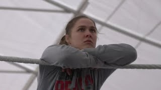 Ronda Rousey Trains In A Ring Outside Her Home In California