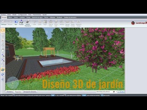 Diseño 3D de jardín y vivienda unifamiliar con Landscape3Design