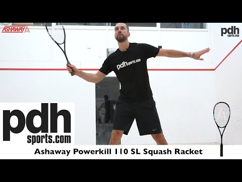 Review of the Ashaway Powerkill 110 SL squash racket by PDHSports.com