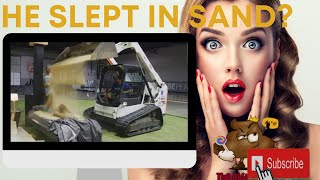 I spent all night sleeping in sand! Reaction❗❗❗