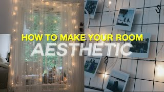 How To Make Your Room Aesthetic | DIY Room Decor