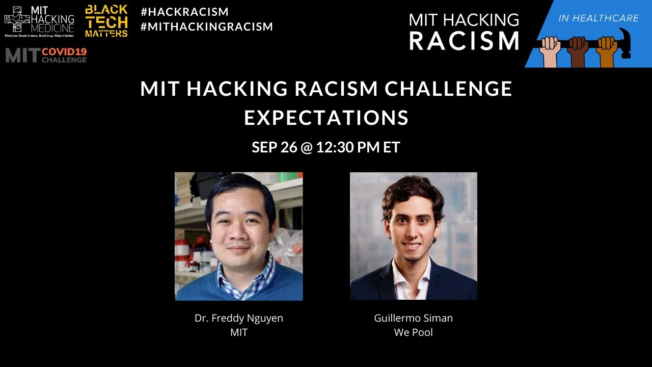 MIT Hacking Racism Challenge in Healthcare: Expectations