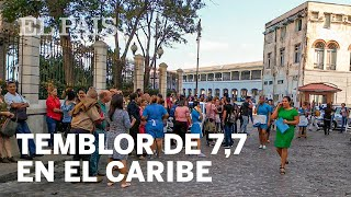 Fuerte TEMBLOR de 7,7 entre CUBA y JAMAICA