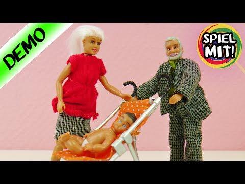 BABY IM KINDERWAGEN mit Oma + Opa | Hässliche Schwedische Puppenhaus Figuren