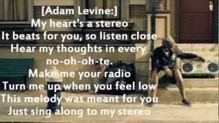 Gym Class Heroes ft Adam Levine - Stereo Hearts (Lyrics on screen)
