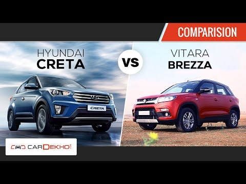 Hyundai Creta vs Maruti Vitara Brezza | Comparison Review | CarDekho.com