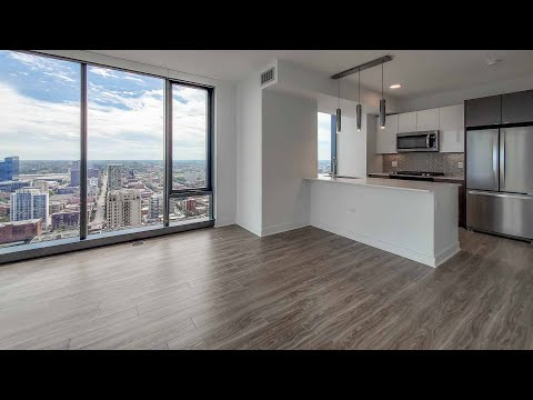A sunny -11 South Loop 2-bedroom at The Paragon, a new, amenity-rich tower
