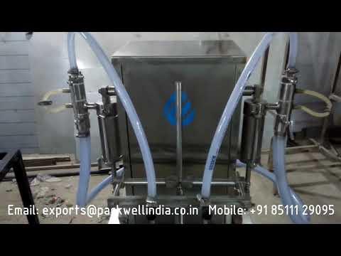 semi automatic hand sanitizer filling machine
