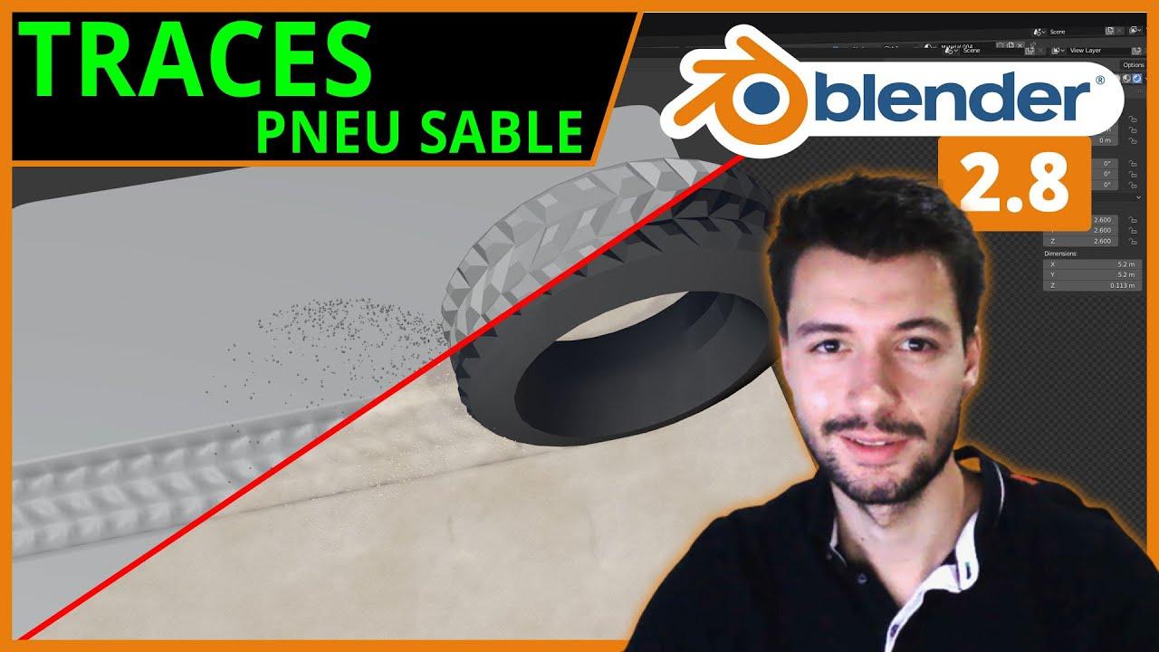 TRACES DE PNEU DANS LE SABLE | Blender 2.8 [TUTO FR]