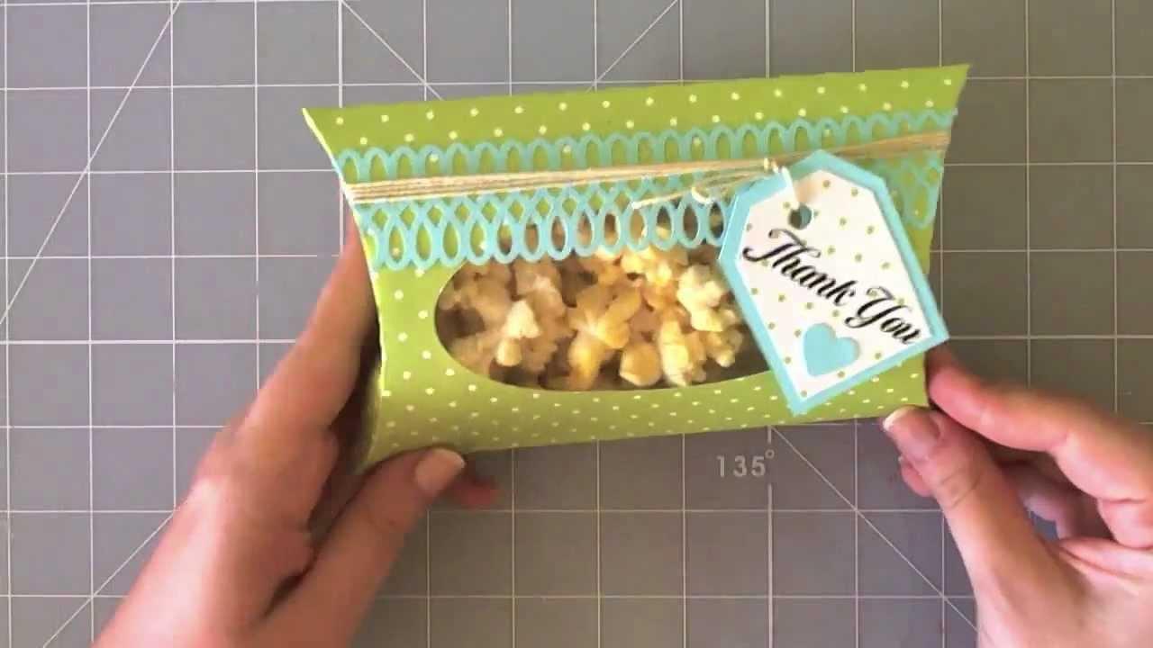 Pillow box - Caja con forma de almohada