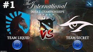Битва ВЕКА на TI8 | Liquid vs Secret #1 (BO3) | The International 2018