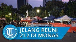 Massa Peserta Reuni Mujahhid 212 Mulai Berdatangan ke Kawasan Monas