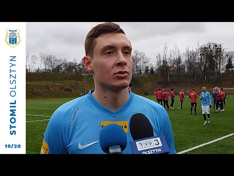Jakub Mosakowski po meczu Znicz Biała Piska - Stomil Olsztyn 1:3