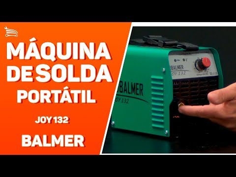 Máquina de Solda Portátil Inversora JOY 132 MMA 130A  - Video