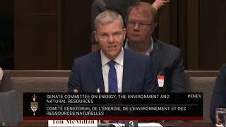 Tim McMillan of CAPP address Canada Senate on Bill C 69