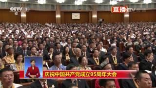 《庆祝中国共产党成立95周年大会特别报道》 20160701 10:00 | CCTV春晚