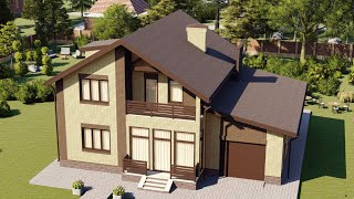 Проект дома 185-A, Площадь дома: 185 м2, Размер дома:  14x11,7 м