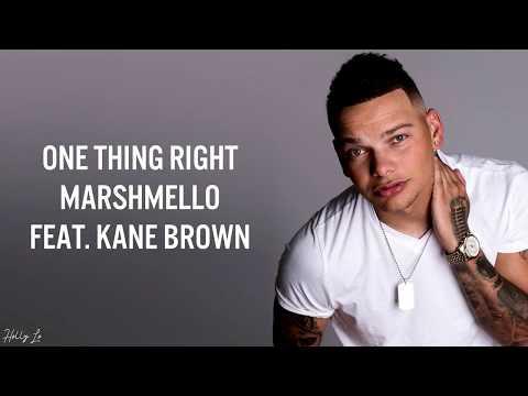 Marshmello & Kane Brown - One Thing Right (with LYRICS)