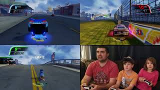 Leland and Leanna vs Daddy in Cars 3 Driven to Win- Daddy Quits!!