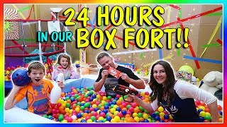 24 HOURS IN A BOX FORT | We Are The Davises