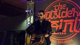 Eric Church live acoustic performance of 'Like Jesus Does' and ' Chevy Van'
