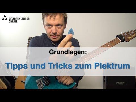 Tipps und Tricks zum Gitarrenpick/Plektrum