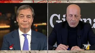 Nigel Farage si confronta con Alessandro Sallusti, Massimo Franco e Michela Murgia