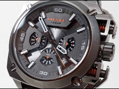 f5119632c5a Video Men s Gunmetal Diesel Bamf Chronograph Steel Watch DZ7344 Mp3 ...