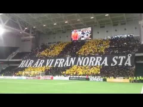 AIK-klackens tifo (Dif-AIK 2-2)
