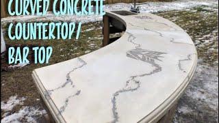 Curved Concrete Countertop  Bar Top