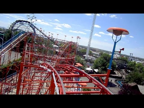 Galaxi front seat on-ride HD POV Cliff's Amusement Park