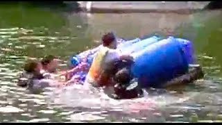 preview picture of video 'Shepperton Raft Race 2010'