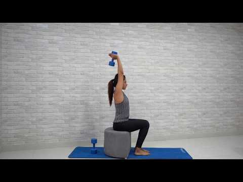 Dumbbell Overhead Tricep Extension (Single Hand)