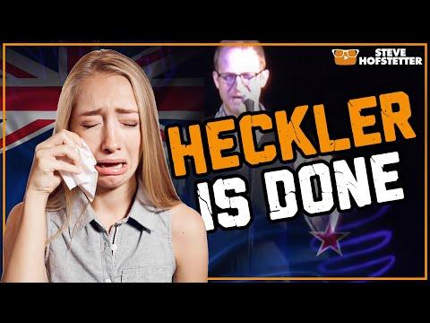 New Zealand heckler, American comedian