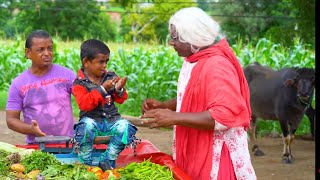 "CHOTU DADA KA BHAJI PALA   ""छोटू  दादा सब्ज़ी वाला "" Khandesh Hindi Comedy   Chotu Comedy Video"