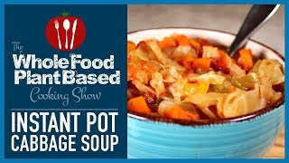 Plant Based Vegan Instant Pot Cabbage Soup for Weight Loss